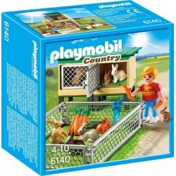 Playmobil Country 6140 Klatka dla królików z wolnym wybiegiem