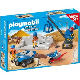 Playmobil 6144 City Action SuperSet Plac Budowy