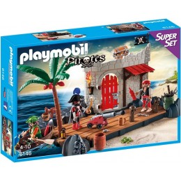 Playmobil Pirates 6146 SuperSet Twierdza Piratów