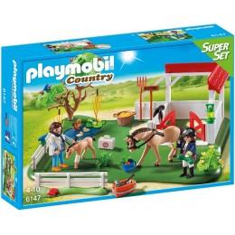 Playmobil Country 6147 SuperSet Wybieg dla koni z boksem