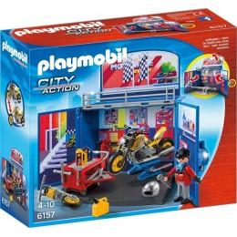 Playmobil 6157 City Action Game Box Warsztat motocyklowy