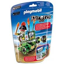 Playmobil Klocki Piraci 6162 Zielona armata z aplikacją i kapitanem piratów