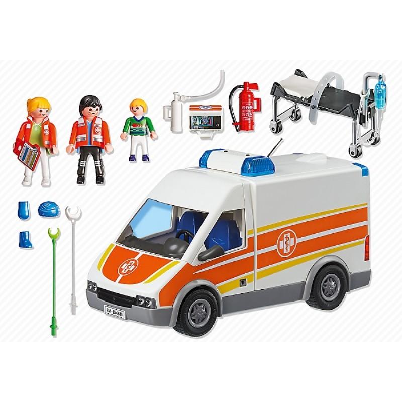 Playmobil 6685 Szpital Karetka Pogotowia Ze Światłem I