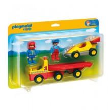 Playmobil 1-2-3 6761 Wyścigówka z lawetą