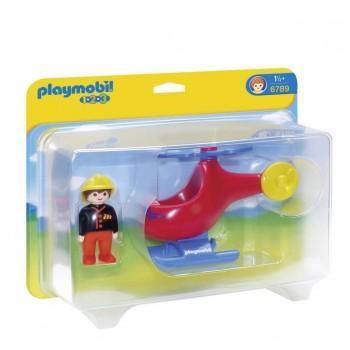 Playmobil 1-2-3 6789 Helikopter straży pożarnej
