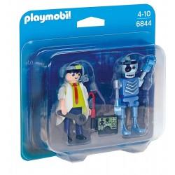 Playmobil 6844 Duo Pack Profesor i robot