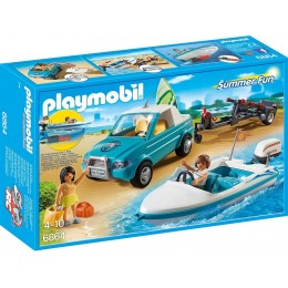 Playmobil Summer Fun Surfer-pickup z motorówką 6864
