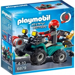 Playmobil 6879 City Action Przestępca z quadem