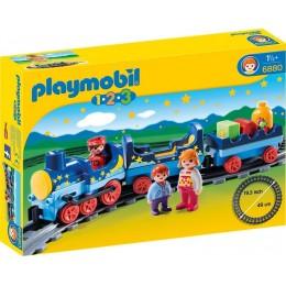 Playmobil 1-2-3 6880 Gwiezdny pociąg z torami