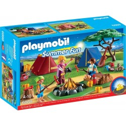 Playmobil 6888 Summer Fun - Pole namiotowe z ogniskiem LED