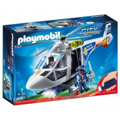 Playmobil 6921City Action - Helikopter policyjny z reflektorem LED