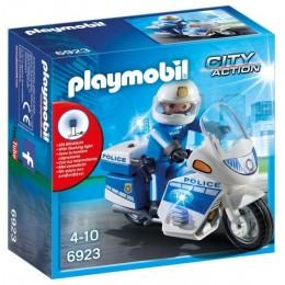 Playmobil 6923 City Action - Motor policyjny ze światłem LED