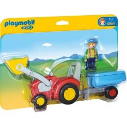 Playmobil 1-2-3 Traktor z przyczepą 6964