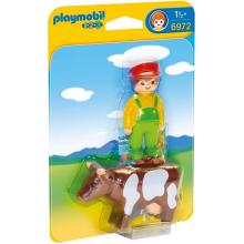 Playmobil 1-2-3 6972 Rolnik z krową