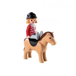 Playmobil 1-2-3 6973 Figurki - Jeździec z koniem