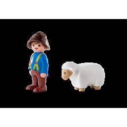Playmobil 1-2-3 6974 Figurki - Owczarz z owieczką