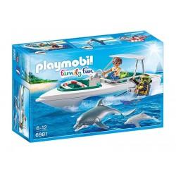 Playmobil 6981 Family Fun - Nurkowie z motorówką
