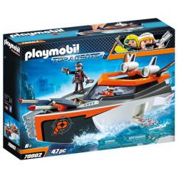 Playmobil 70002 – Top Agents – Łódź turbo