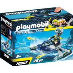 Playmobil 70007 – Top Agents – Ścigacz wodny z rakietami