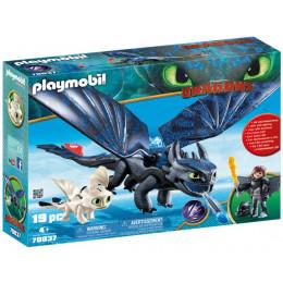 Playmobil 70037 Dragons Jak wytresować smoka - Szczerbatek z małym smokiem