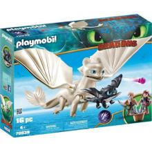 Playmobil 70038 Dragons Jak wytresować smoka - Biała Furia z małym smokiem