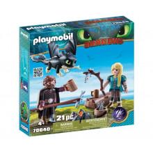 Playmobil 70040 Dragons Jak wytresować smoka - Czkawka i Astrid z małym smokiem