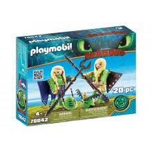 Playmobil 70042 Dragons Jak wytresować smoka - Mieczyk i Szpadka w zbroi do latania