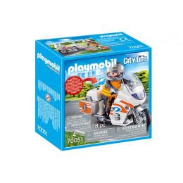 Playmobil City Life 70051 Motocykl ratowniczy ze światłem