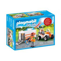 Playmobil City Life 70053 Quad ratowniczy z przyczepką