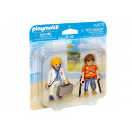 Playmobil  Duo Pack 70079 – Lekarka i pacjent