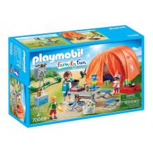 Playmobil Family Fun 70089 Rodzina na kempingu