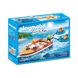 Playmobil Family Fun 70091 Łódź motorowa z pontonami