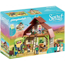 Playmobil 70118 Spirit: Riding Free Mustang - Boks stajenny z Lucky, Pru i Abigail