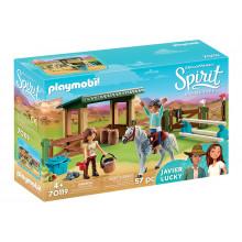 Playmobil 70119 Spirit: Riding Free Mustang - Wybieg z Lucky i Javier