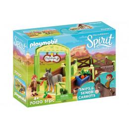 Playmobil 70120 Spirit: Riding Free Mustang - Boks stajenny Kłak i Pan Marchewa