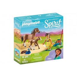 Playmobil 70122 Spirit: Riding Free Mustang - Pru z koniem i źrebakiem