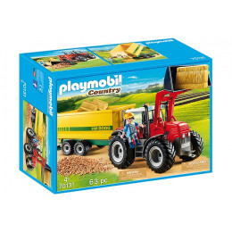 Playmobil Country 70131 Duży traktor z przyczepą