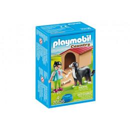 Playmobil Country 70136 Berneński pies pasterski z budą