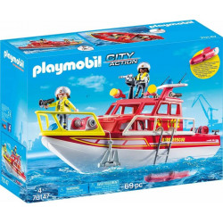 Playmobil 70147 – City Action – Łódź ratownicza straży pożarnej