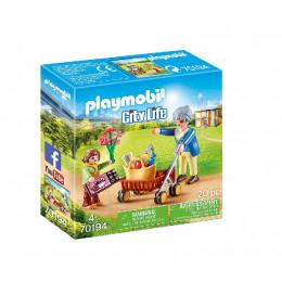 Playmobil 70194 City Life - Babcia z chodzikiem