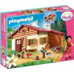 Playmobil Heidi 70253 - Heidi z dziadkiem w górskiej chacie