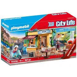 Playmobil 70336 City Life - Pizzeria z ogródkiem restauracyjnym