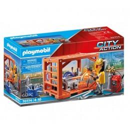 Playmobil City Action 70774 Produkcja kontenerów