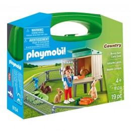 Klocki Playmobil 9104 Country - Skrzyneczka - Wybieg dla królików