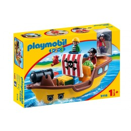 Playmobil 1-2-3 9118 Piracki okręt z figurkami