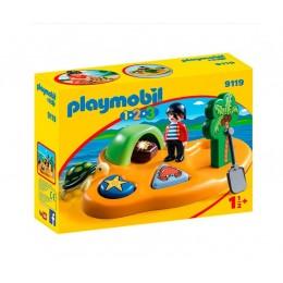 Playmobil 1-2-3 9119 Wyspa piracka ze skarbem