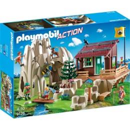 Playmobil Action 9126 Skała do wspinaczki z chatką górską