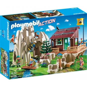 Playmobil Action 9126 Skała do wspinaczki ze schroniskiem górskim