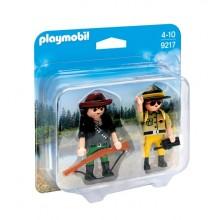 Playmobil Duo Pack 9217 Figurki - Kłusownik i strażnik