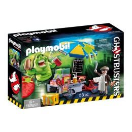 Playmobil 9222 Pogromcy Duchów - Slimer przy budce z hotdogami